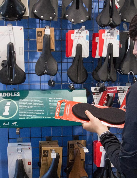 Different saddle options can be swapped in. Hoy saddles are included in the retail price, but saddles by other manufacturers would incur an additional cost
