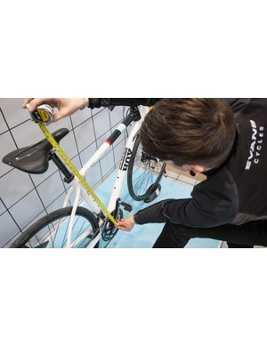 The inside leg measurement is used to help determine the saddle height, and further refined by putting the pedal in the 6 o'Clock position and measuring how much the heel drops when the leg is straightened with the foot on the pedal