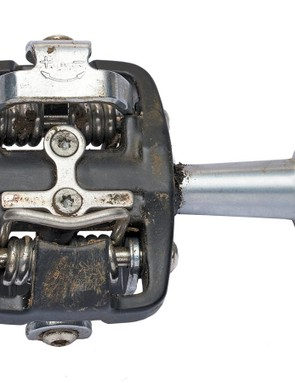The cleat mechanism holds you tight in the pedal