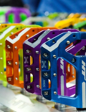 There's no shortage of color in HT's pedals