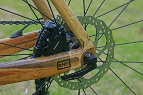 Despite their unique material HTech bikes are on trend, with disc brakes on offer and internal cable routing