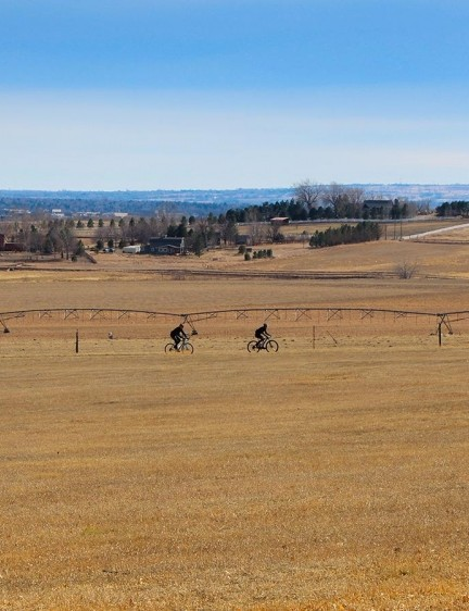 In addition to the climbs, there were plenty of wide open plains on the course