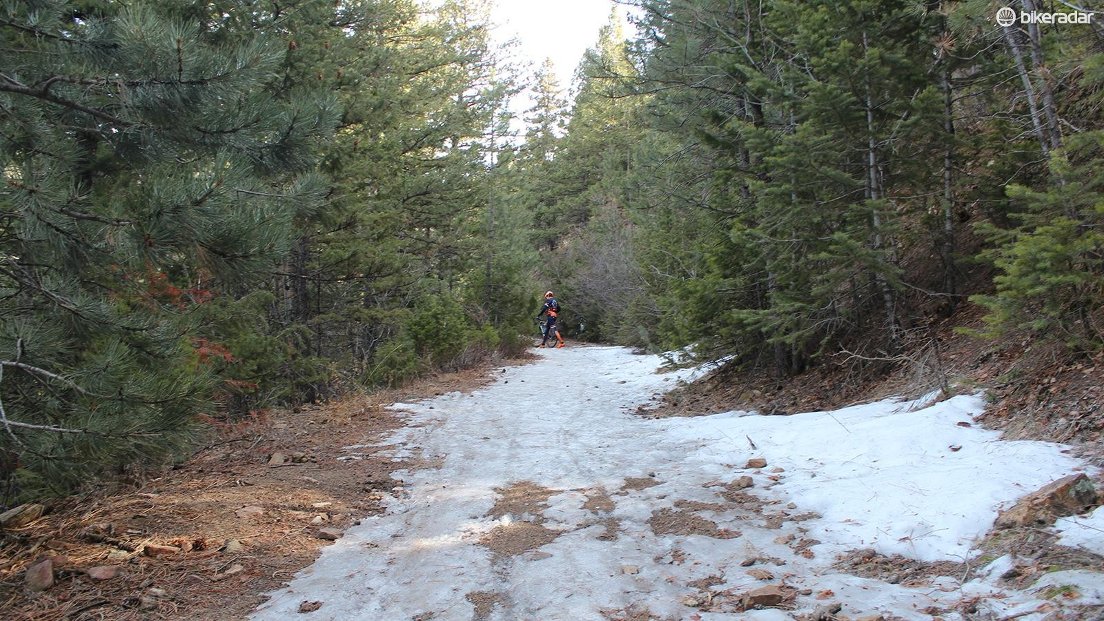 The majority of the off-road climb was rideable on a gravel or cyclocross bike, though there were a few tricky spots