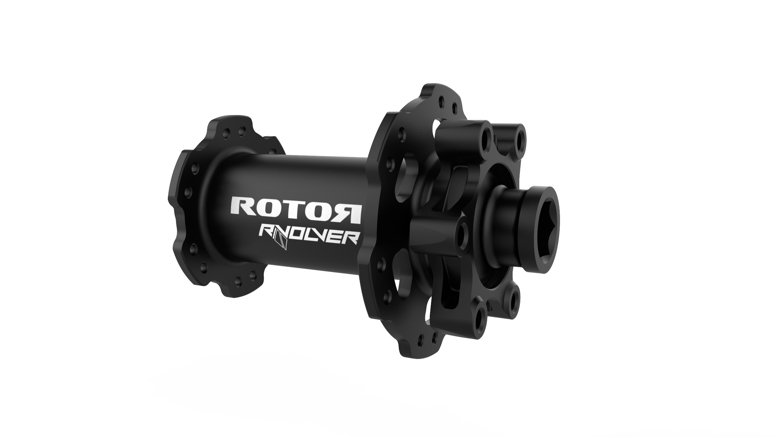 The RVOLVER road hub is available in disc (pictured) and rim brake versions