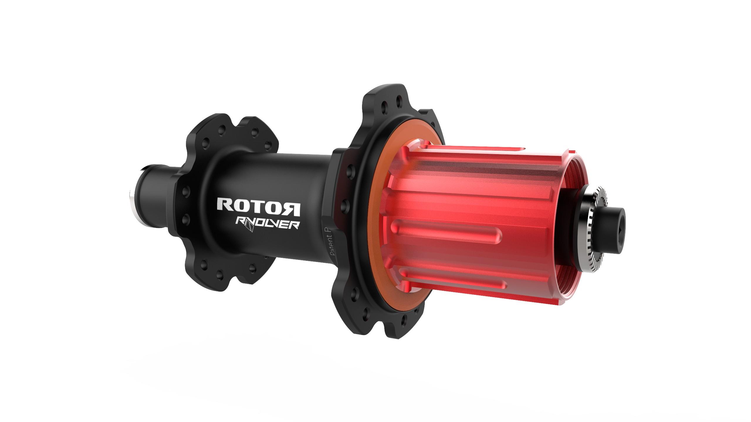 The rim brake version of Rotor's new RVOLVER road hub