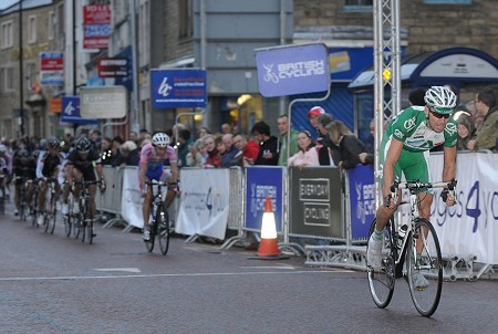 Jeremy Hunt racing the Colne Town Centre Grand Prix.