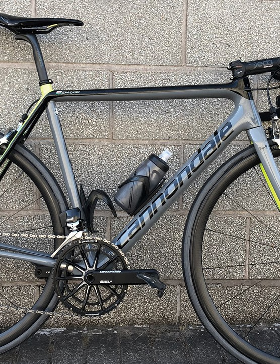Dan Evans' hill climb bike looks surprisingly normal and 'intact' — rather than the usual chopping down weight saving measures we're used to seeing