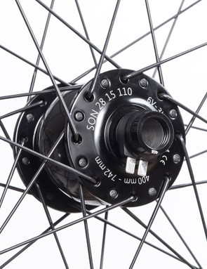A SON28 hub powers your ride