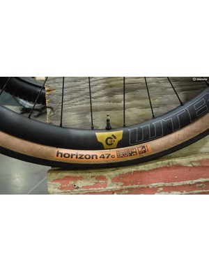 WTB launched its new Horizon 650bx47 TCS tires simultaneously at NAHBS and Frost Bike. The new tire is tubeless and Rick Hunter built an adventure bike to help highlight the new tires