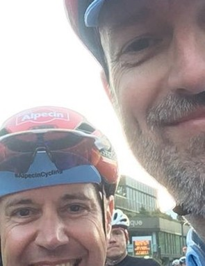Rob brought both his chins to the Etape, while Murray looks on…
