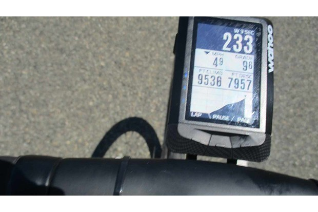 Not Chris Froome's power output, yesterday