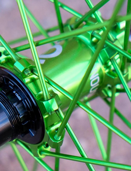 Industry Nine's hubs have a speedy 3 degrees of engagement (Shimano and SRAM freehub bodies are available)