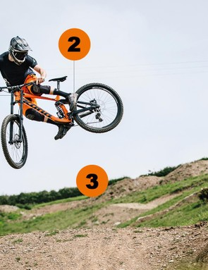 Practice on wide tabletop jumps