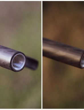 Cut-able inserts allow riders to fine-tune fit without cutting their actual handlebar