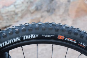 Ibis didn't skimp on the rubber, with a 2.5in DHF upfront...