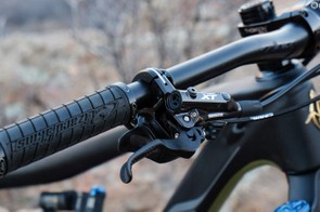While most of the kit is good, the XT brakes feel underpowered for a bike such as this