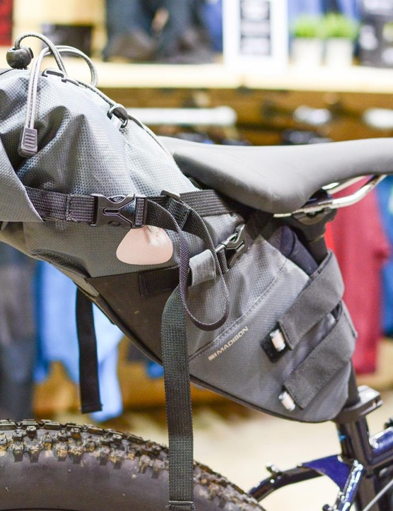 Madison has its own range of bikepacking kit too, including the Caribou saddle bag which retails at £79.99