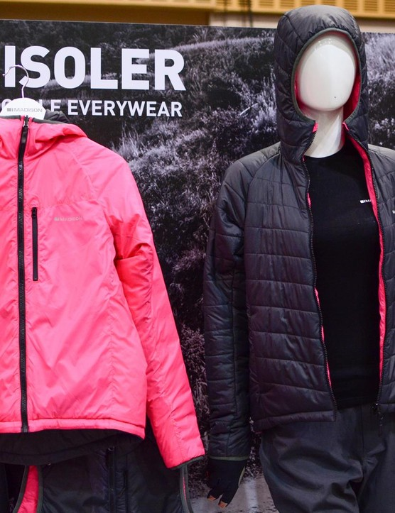 Madison is expanding its range of not-necessarily-cycling clothing. The Isoler jackets and gilets are reversible and come in both men and women's cuts