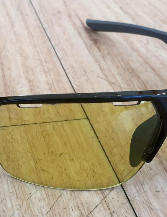 The Enduro X glasses feature lenses that transition from yellow to shaded in response to light conditions