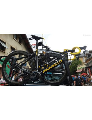 Geraint Thomas also had a special edition Pinarello later in the race to commemorate his stint in the yellow jersey