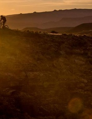 Just look at that happy e-MTBer riding off into the sunset