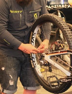 Brendan Fairclough's mechanic gets tyre pressures spot on