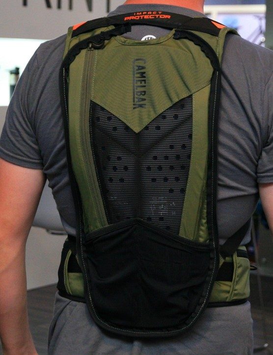 Without the storage section, you're left with a stand-alone back protector