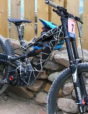 Tracey Hannah's Polygon DH bike is still officially unreleased — expect news soon though