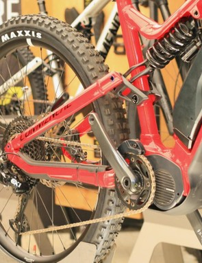 No, Commencal aren't racing their e-bike here, but we wonder what SRAM and Shimano think about running an EX1 group with a Steps motor