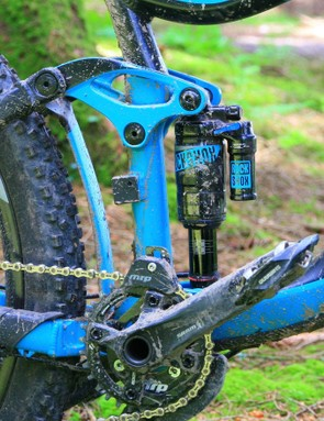 The Reign 1's back end is controlled by a RockShox Monarch Plus Debonair