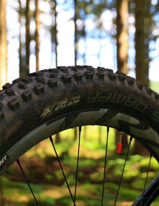The Giant TRX 1 wheels are composite, and impressed on test