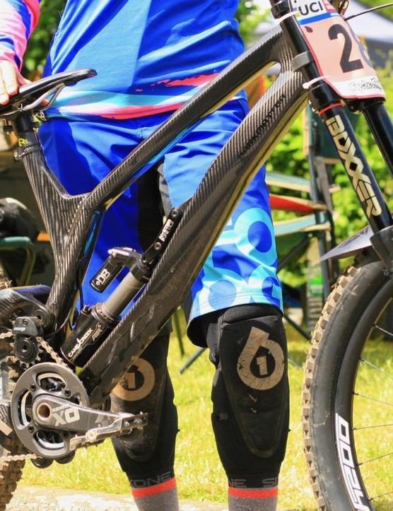Agata Bulska is riding an Antidote Dark Matter custom carbon bike