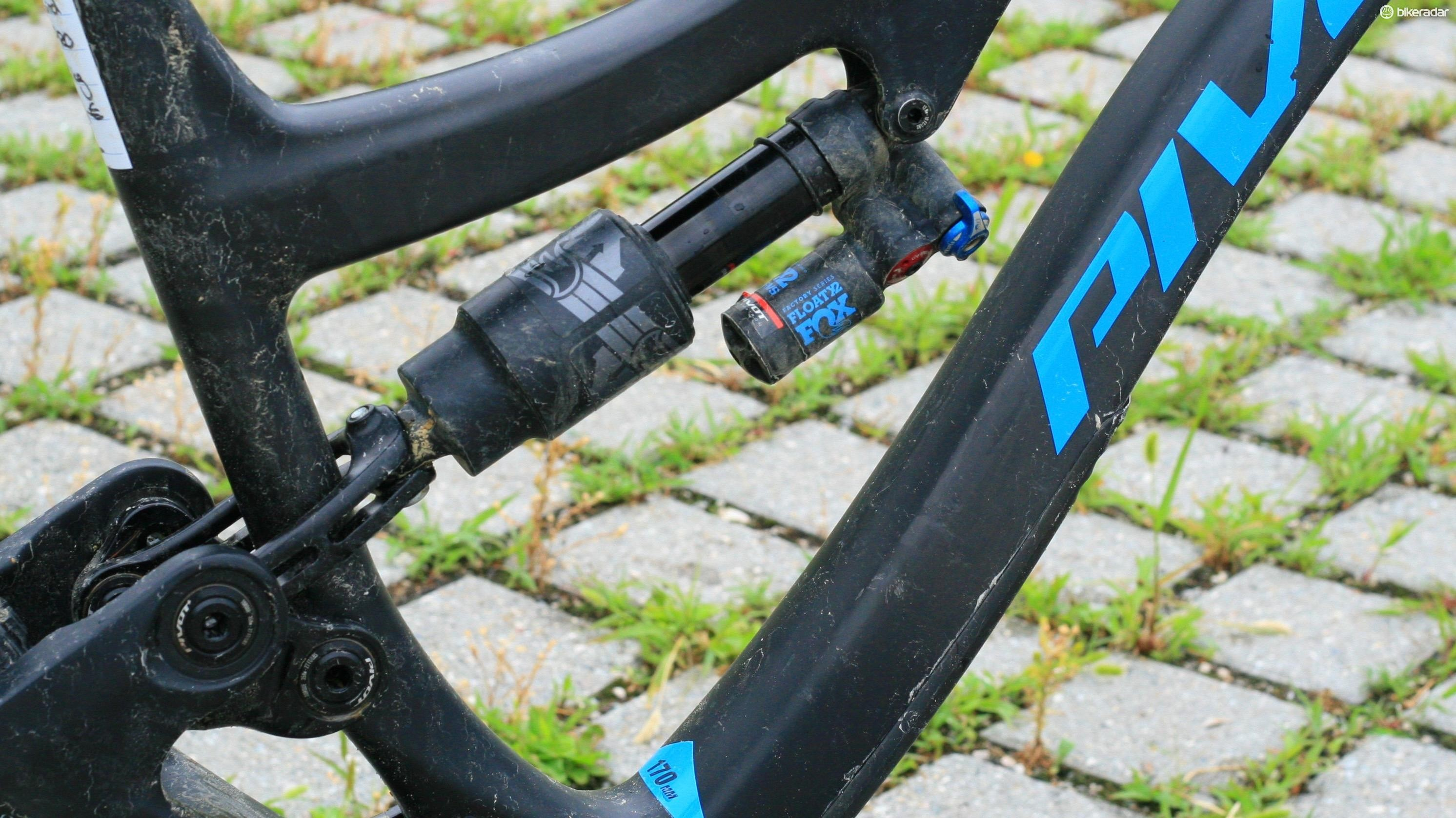 The X2 shock easily controls the rear wheel