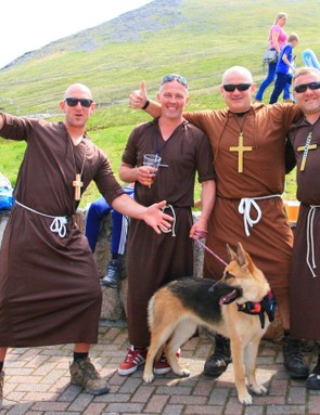While Lourdes is undoubtedly the most religious of races, these guys brought a bit of spirituality to Fort William