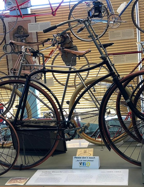 The 'Safety Bicycle' was built between 1885 and 1892 and shares many design features with today's bicycles