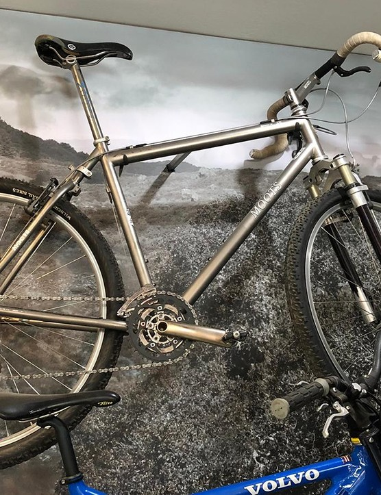 According to the museum, the 1999 Moots YBB 29er was one of the first 29-inch mountain bikes with full 2in tyres