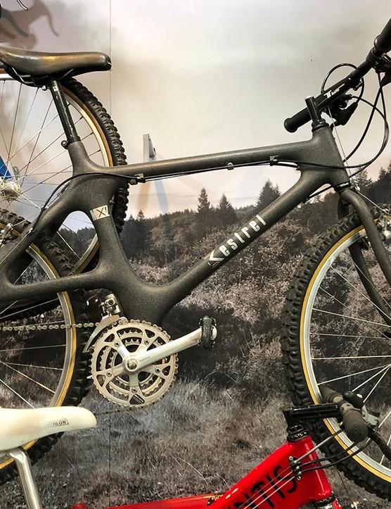 1989 Kestrel MX-Z — the first full-carbon production mountain-bike frame