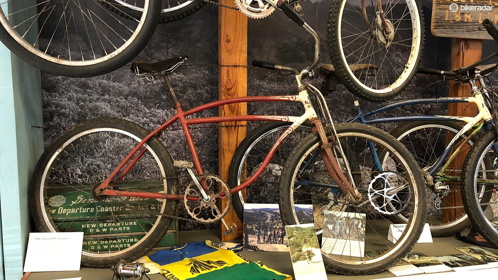 This 1941 Schwinn DX Excelsior was rescued by Otis Guy from a junkyard in 1974 and was one of the many 'clunkers' used in 1970s