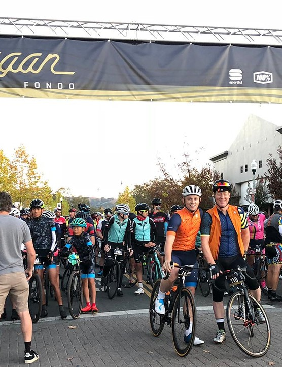 At the startline of the event