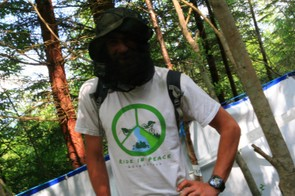 The savagery of the midges meant the man behind Ride In Peace Adventures was also hiding behind his midgie net