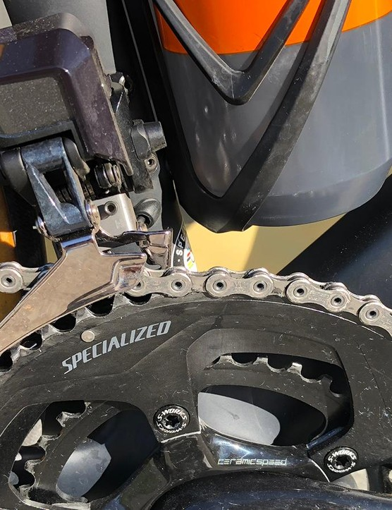 The front derailleur worked faultlessly