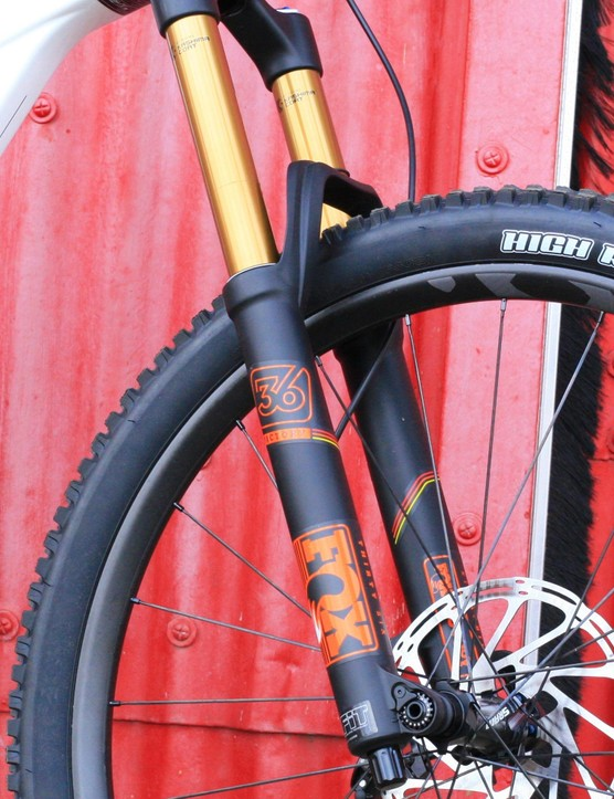 Fox's top-end 36 fork is a suitable match