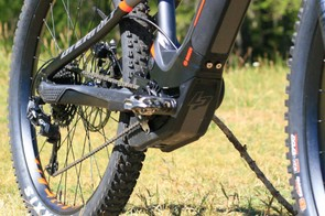 E-bike motors always extend below the chainrings, but the Lapierre looks to have decent protection