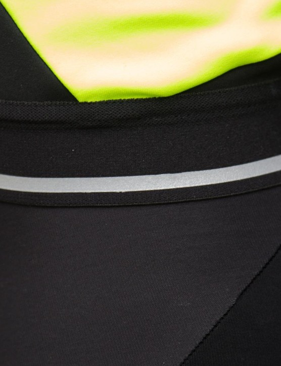 A reflective strip on the waist band of the Fiandre NoRain jacket