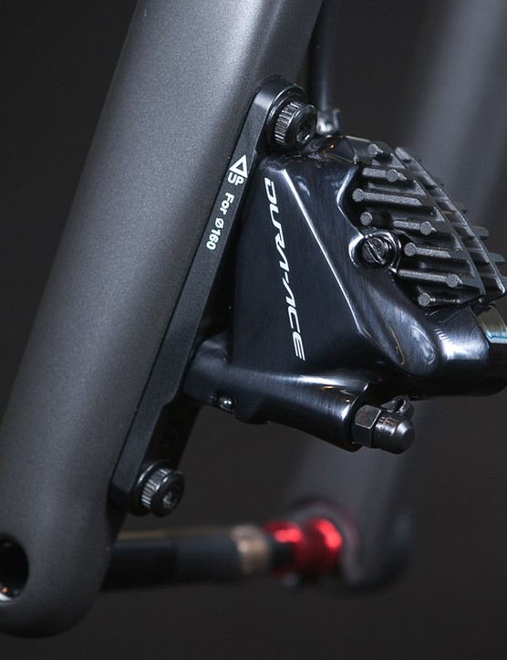 The advent of flat-mount disc calipers helped Argonaut achieve the ride and aesthetics it was looking for