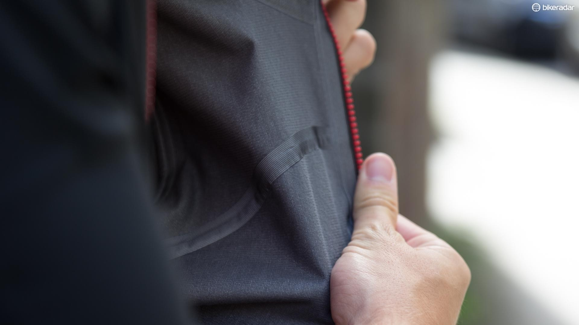 The Gore Windstopper fabric has taped seams to improve water resistance and a soft brushed finish on the inside