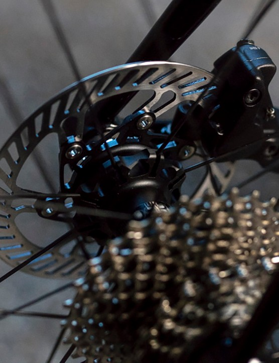 The disc brakes provide extra stopping power for challenging Alpine descents