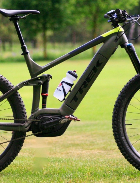 The Trek Powerfly LT 9 is its top-level longer travel e-MTB