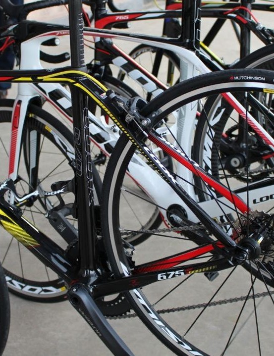 Continuing the French theme, the bikes provided in Sicily were by Look, and the wheels were Mavic