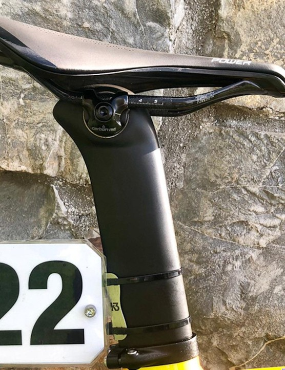 Alongside the carbon forks, the frame also uses a proprietary carbon seatpost from the Venge frameset